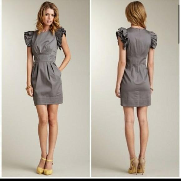 Jessica Simpson Frilled Gray Mini dress